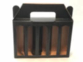 black craft box for 5 x 5cl bottles