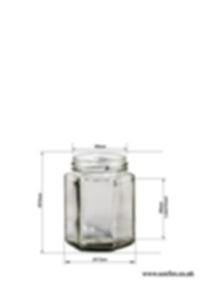 190ml Hexagonal jar
