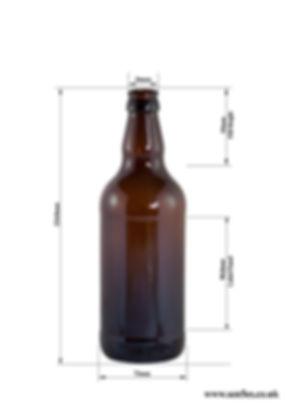 500ml AMC brown / amber Beer bottles