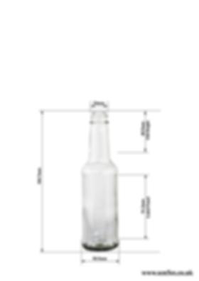 150ml / 15cl glass sauce bottle