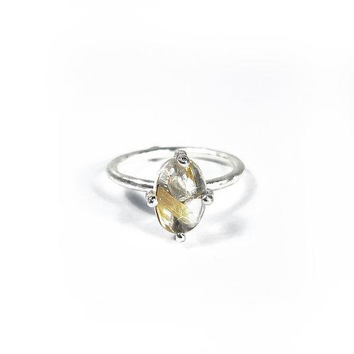 Rutilated Quartz ring  R139