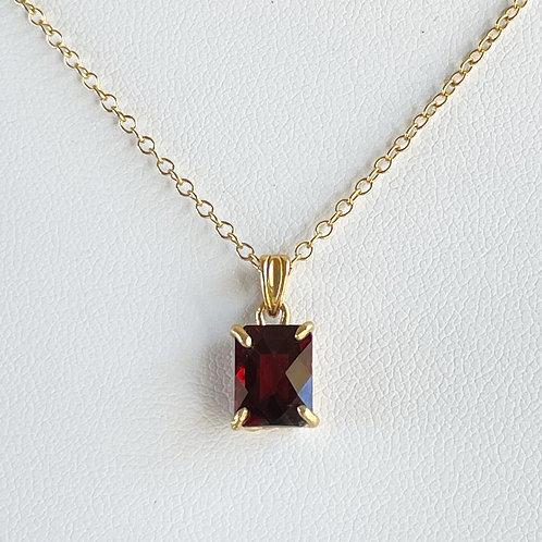 Garnet necklace N018