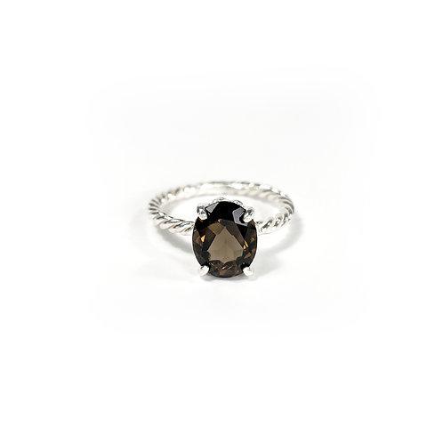 Smoky quartz ring R147