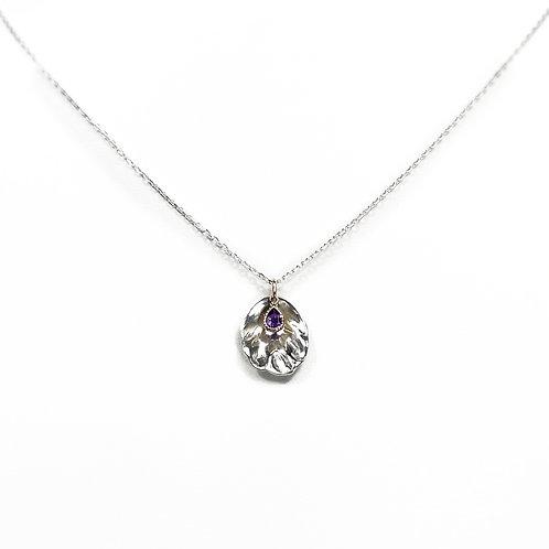 Petal necklace - amethyst - N022
