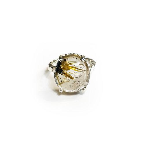 Sun Rutilated Quartz ring  R115