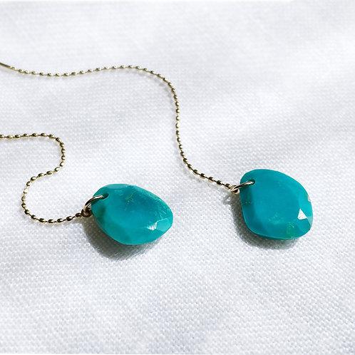K10 Turquoise earrings E036