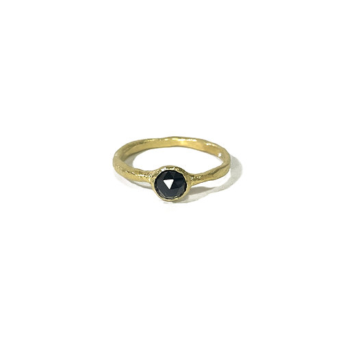 Black Onyx ring  -gold- R142