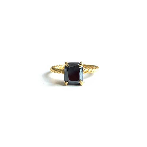 Black Moissanite ring R024