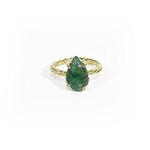 Tourmaline ring - leaf - R128