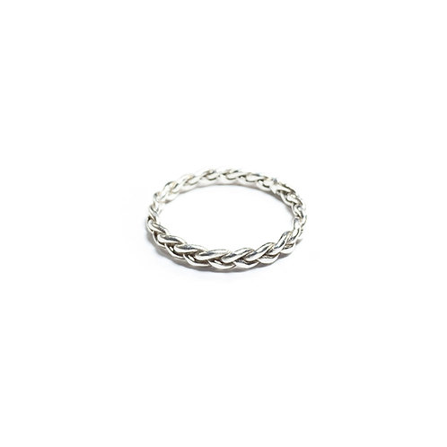 Triplets rope ring - silver - R061