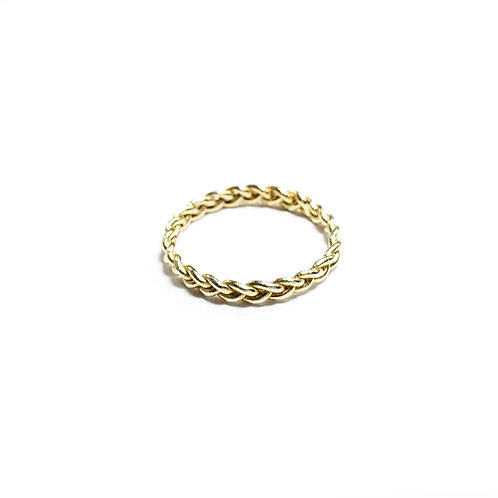 Triplets rope ring - gold - R059