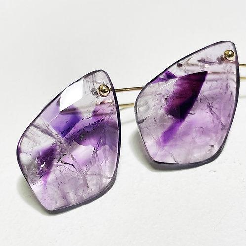 K10 Trapiche amethyst earrings E025