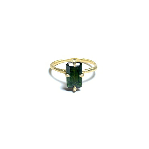 Green tourmaline ring R032