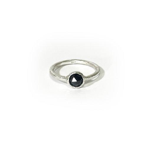 Black Onyx ring  -silver- R141