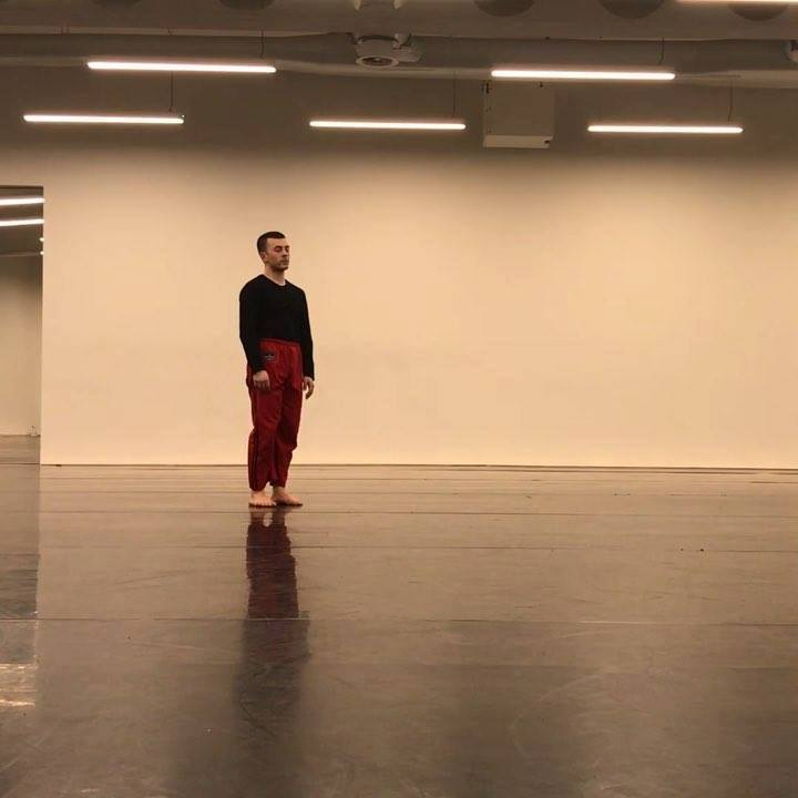 Back in the studio to play and research with @paolo.pisarra !  Filmed at Studio Wayne McGregor
