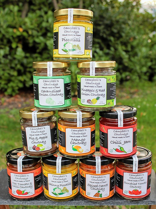 Chutney selection - any 3 Chutneys for £10.00!