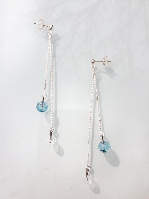 Boucles d'oreilles duo Aqua