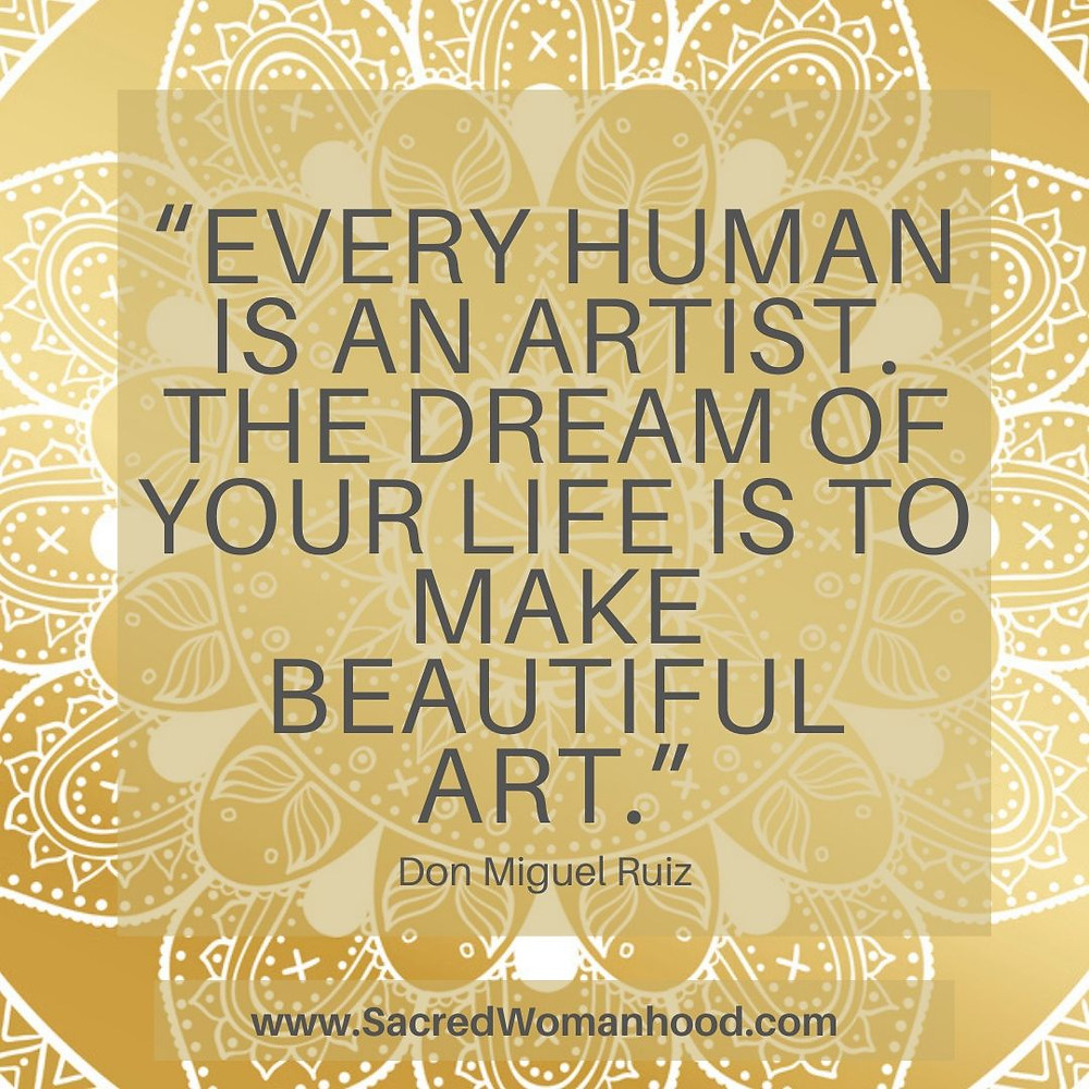 Don Miguel Ruiz Quote - Life as Art