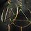 Thumbnail: Jade Earrings - Gold Colour
