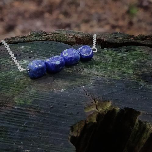 Lapiz Lazuli Necklace - 925 Sterling Silver