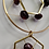 Thumbnail: Garnet Earrings - Gold Colour