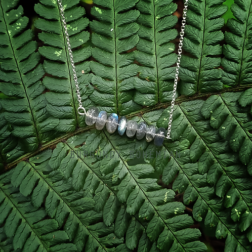 Labradorite Necklace - 925 Sterling Silver