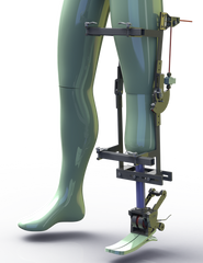 Bi-Articular Powered Prosthetic Device