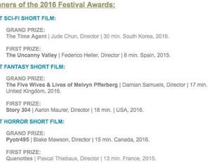 Melvyn Pfferberg wins Rhode Island short festival!