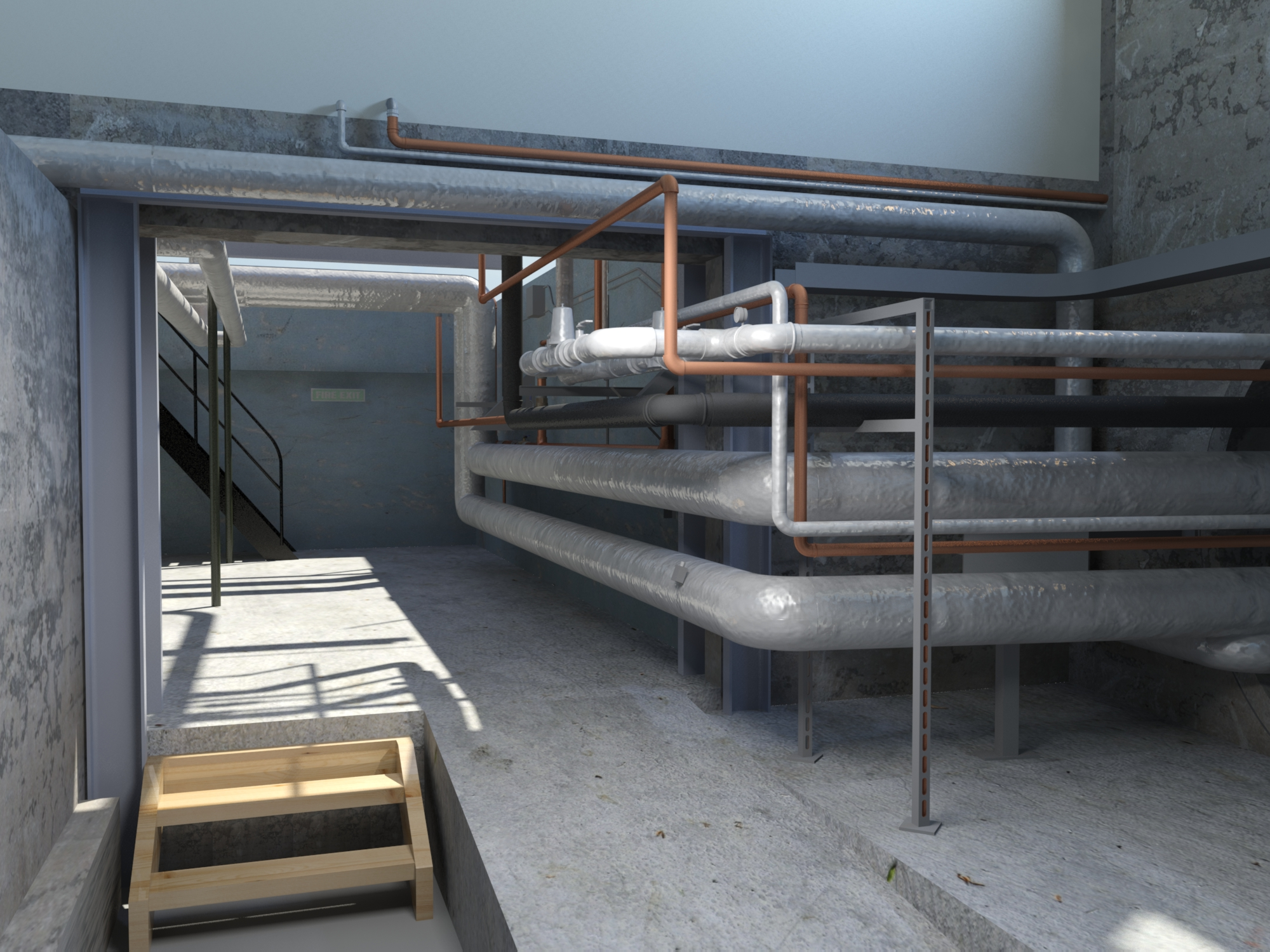 Plant Room Visualization - 3DS Max