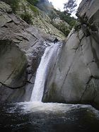 toboggan sur le llech/canyoning-pyrenees-orientales