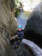 rappel du gourg des anelles/canyoning-pyrenees-orientales