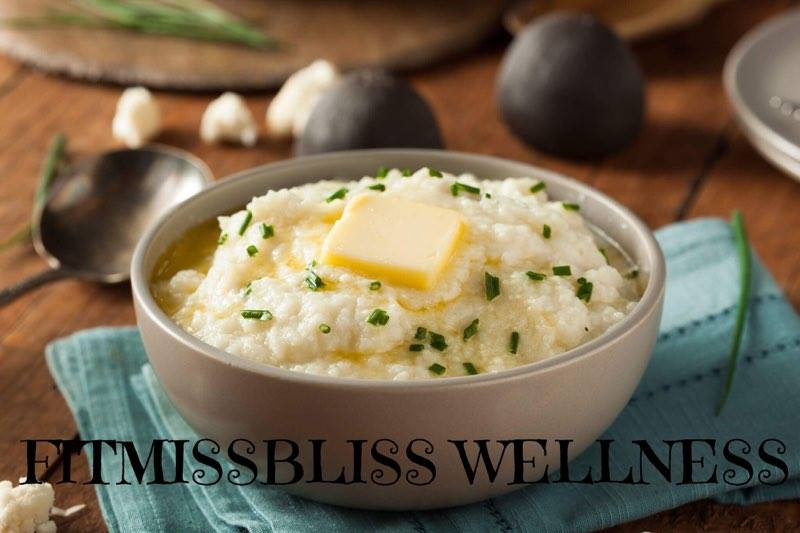 FitMissBliss Mashed Cauliflower - Image used for likeness. Open Source purchased image.
