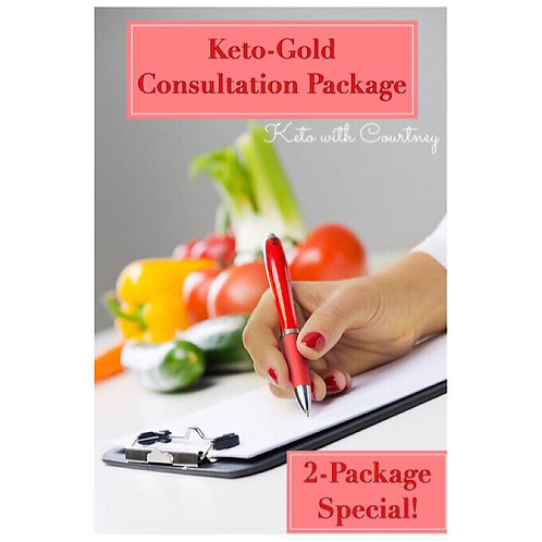 Keto-Gold©{ 2- Pack} Consultation Package!