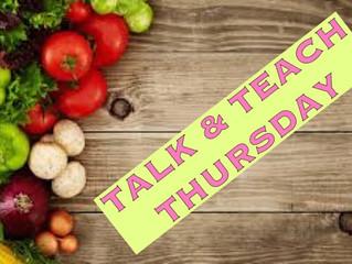 Talk & Teach Thursday: November 29 '17 GUT HEALTH