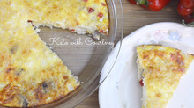 Steak, Pepper & Feta Quiche