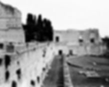 Foro Romano Palatino, pinhole, foro stenopeico, stadio palatino, Roma, ink jet, carbon print