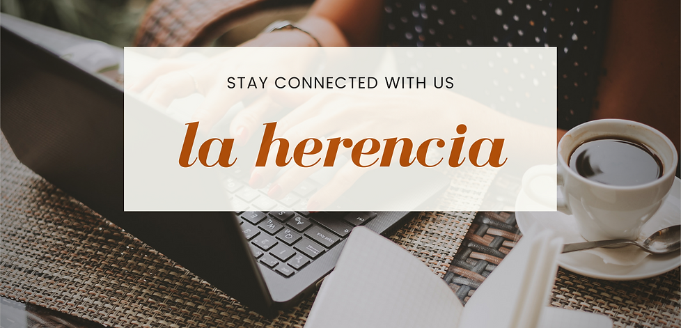 Newsletter La Herencia Orange and Yellow