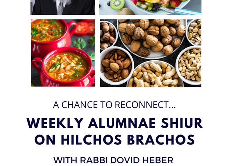 Weekly Alumnae Shiur with Rabbi Heber