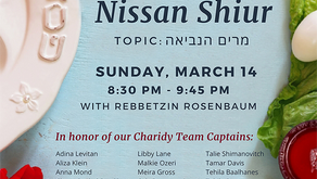 Pre-Pesach Shiur with Rebbetzin Rosenbaum