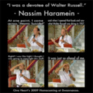 Nassim Haremin, Walter Russell, University of Philosophy, Plagiarism, Copy, Truth, Free Energy, Quantum Quackery