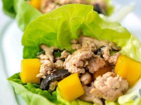 Chicken & Mango Salsa Lettuce Wraps