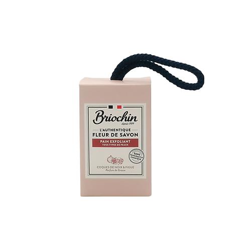 Briochin FLEUR DE SAVON Walnut and Fig Exfoliating Soap Bar - 200g