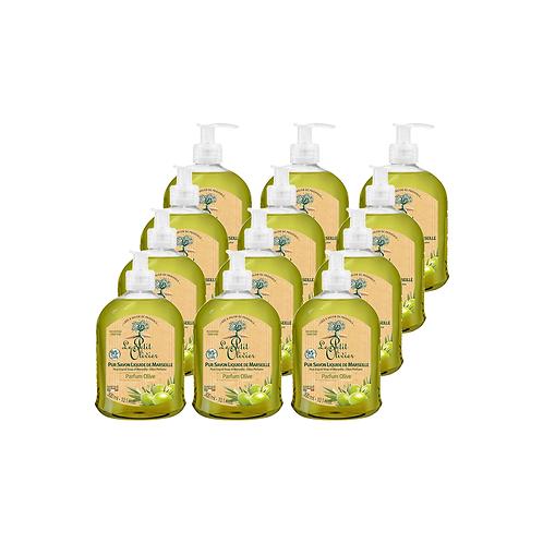 Le Petit Olivier - Pure liquid Marseille soap Olive perfume - 12 x 300ml