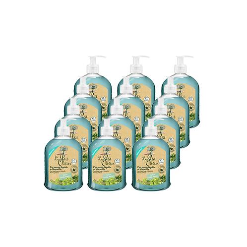 Le Petit Olivier - Pure liquid Marseille soap Crithmum Perfume - 12 x 300ml