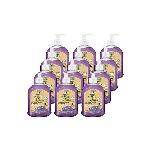 Le Petit Olivier - Pure liquid Marseille soap Lavender perfume - 12 x 300ml