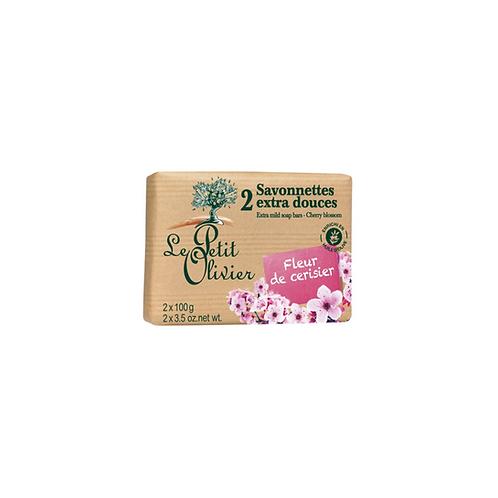 Le Petit Olivier - Cherry Blossom Extra Mild Soap Bars - 2 x 100g