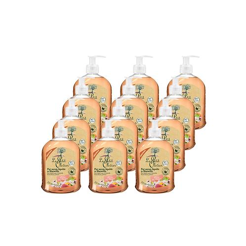 Le Petit Olivier - Pure liquid Marseille soap Peach Blossom - 12 x 300ml