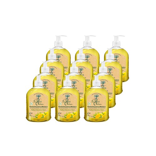 Le Petit Olivier - Pure liquid Marseille soap Verbena Lemon Perfume - 12 x 300ml