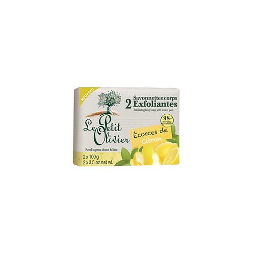 Le Petit Olivier - Lemon Peel Exfoliaing Body Soap - 2 x 100g
