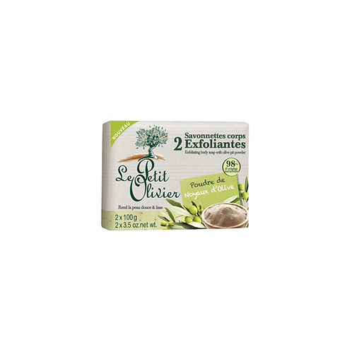Le Petit Olivier - Olive Pit Powder Exfoliaing Body Soap - 2 x 100g